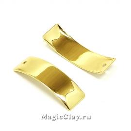 Подвеска Пластина 29х9мм, Real Gold, 1шт