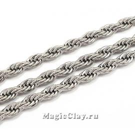 Цепочка Фантазия звенья 3,5мм, сталь, 1м