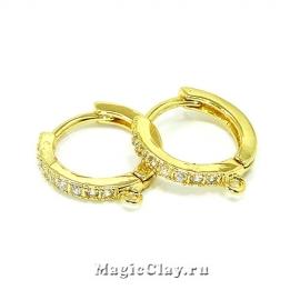 Швензы Кольцо 16мм, цвет золото, 1пара