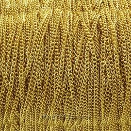 Цепочка Панцирная звенья 3x2мм, сталь золото, 1м