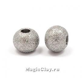 Бусина металлическая Звездная пыль 6х5мм, сталь, 10шт