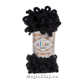Пряжа Alize Puffy, цвет Черный 60, 1шт