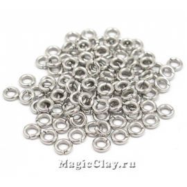 Колечки разъемные 4х1мм, сталь, 12гр (~200шт)