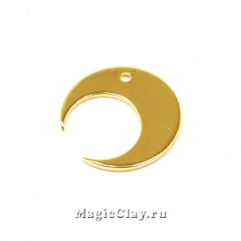 Подвеска Луна 14х14мм, цвет золото, 5шт