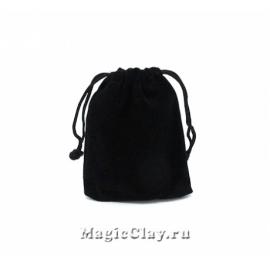 Сумочка подарочная из бархата 9х7см, цвет Черный