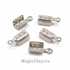 Зажимы для шнура 10х4мм, сталь, 10шт
