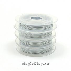 Ювелирный тросик 0,38мм, цвет Белый, 10м