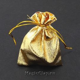 Сумочка подарочная 9х7см, цвет золото