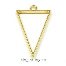 Рамка для кулона Треугольник 39х25мм, цвет золото, 1шт