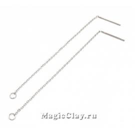 Швензы гвоздики с Цепочкой, 90х1,2 мм,сталь, 1пара