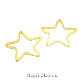 Коннектор Звезда Контур 20х19мм, сталь, цвет золото, 1шт
