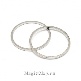 Коннектор Кольцо 20мм, цвет платина, 10шт