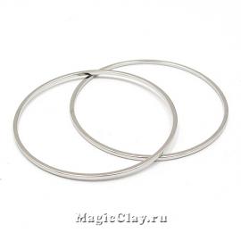 Коннектор Кольцо 35мм, цвет платина, 10шт