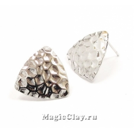 Швензы гвоздики Камень 16х17мм, Real Platinum, 1пара