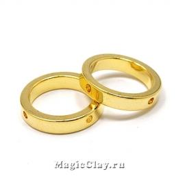 Подвеска Кольцо 16мм, Real Gold, 4шт