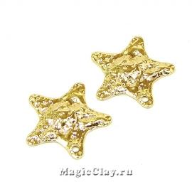 Подвеска Камень Звезда 19х18мм, Real Gold, 1шт
