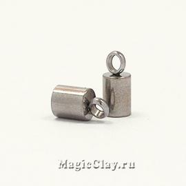 Концевик с ушком 8х4мм, сталь, 2шт