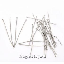 Пины гвоздики 30х0,7мм, сталь, 1уп (~100шт)