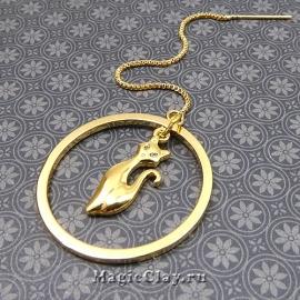 Пример коннектор кольцо в сережках-гвоздиках