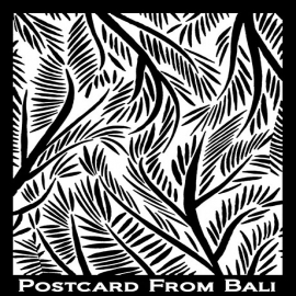 Silk Screen трафарет Postcard from Bali