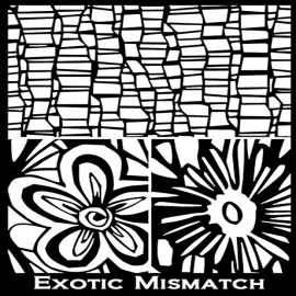 Silk Screen трафарет Exotic Mismatch