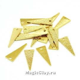 Подвеска Треугольник Стрела 13х5мм, Real Gold, 5шт