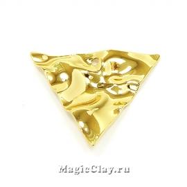 Подвеска Камень Треугольник 26х22мм, Real 18K Gold, 1шт