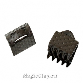 Зажимы для лент 6х8мм, цвет черная сталь, 30шт