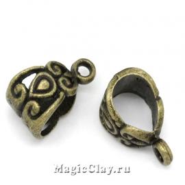 Бейл Миральда 13х7мм, цвет античная бронза, 5шт