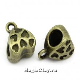 Бейл Love 11х8мм, цвет античная бронза, 10шт