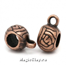 Бейл Арабика 11х6мм, цвет медь, 1шт