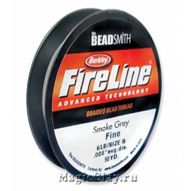 Нить FireLine 6lb, цвет Темно-Серый