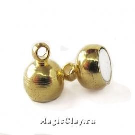 Замок Магнитный 16х7мм, цвет золото, 1шт
