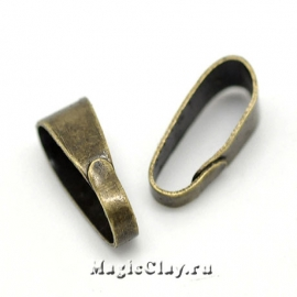 Бейлы Классика 11х4мм, цвет античная бронза, 30шт
