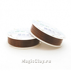Леска для бисероплетения Гамма 0,3мм, цвет коричневый