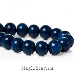 Бусины Глянец Призрачный Синий 8мм, 1нить (~50шт)