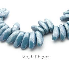 Бусины Chilli 4мм, Chalk Blue Lustered, 1нить (~40шт)