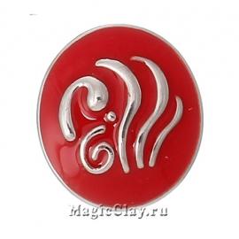 Кнопка Chunk Стихия, цвет серебро