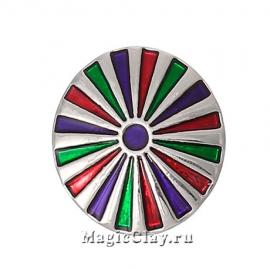 Кнопка Chunk Вираж, цвет серебро