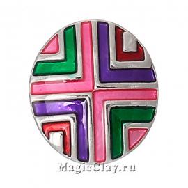 Кнопка Chunk Перекресток, цвет серебро