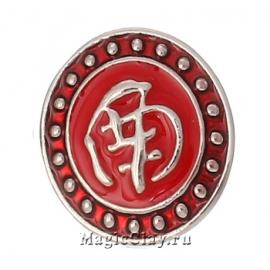 Кнопка Chunk Иероглиф, цвет серебро