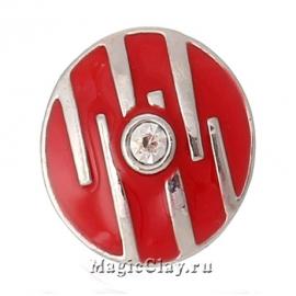 Кнопка Chunk Импровизация, цвет серебро