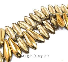Бусины Dagger 1отв. 16мм, Crystal Amber, 1нить (~25шт)