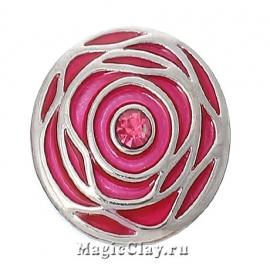 Кнопка Chunk Розарий, цвет серебро