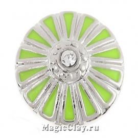 Кнопка Chunk Лайм, цвет серебро
