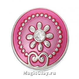 Кнопка Chunk Романтика, цвет серебро