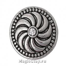 Кнопка Chunk Серпантин, цвет серебро