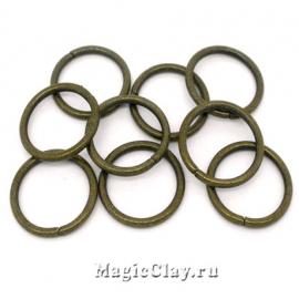 Колечки разъемные, цвет античная бронза 18х1,8мм, 1уп (~20шт)