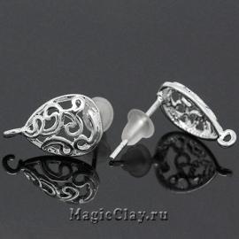 Швензы гвоздики Нежность, цвет серебро