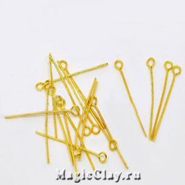 Пины с колечком, цвет золото 26х0,7мм, 1уп (600шт)